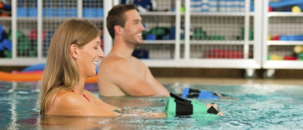 Patients in Aquafit class