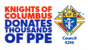 knights of columbus donates PPE